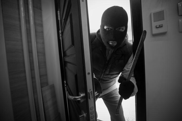 How can you secure your accommodation from burglars?